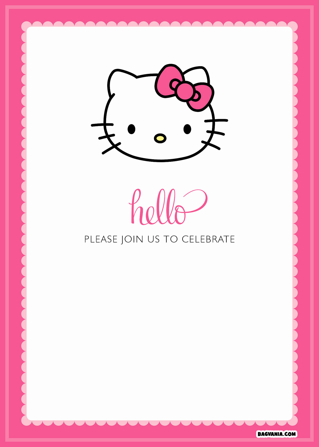 Hello Kitty Invitation Template Lovely Free Printable Hello Kitty Birthday Invitations – Free