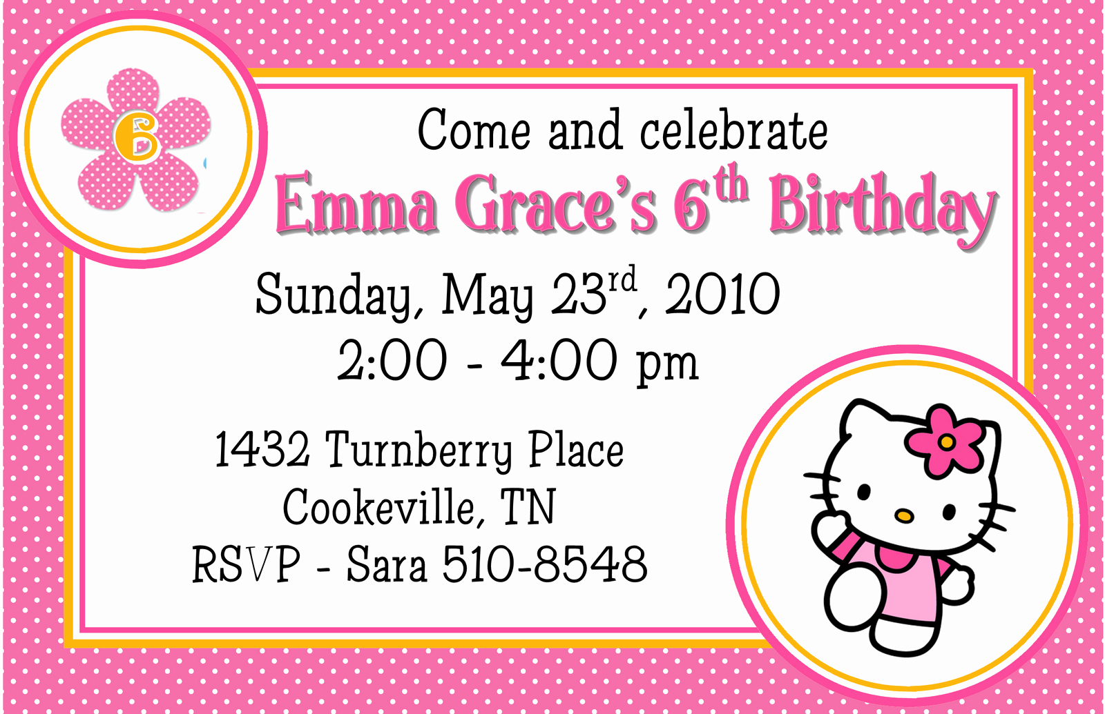 Hello Kitty Invitation Template Luxury Hello Kitty Birthday Invitations Templates