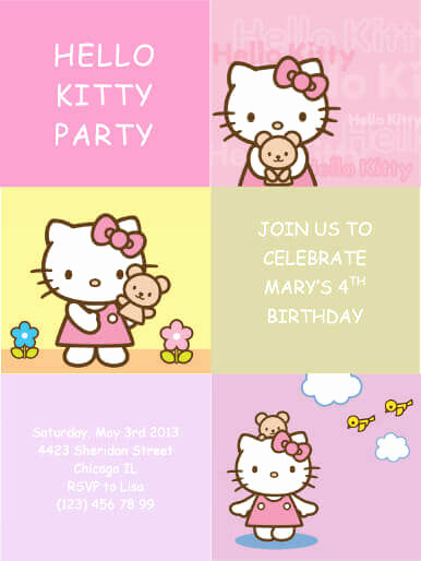 Hello Kitty Invitation Templates Beautiful 33 Free Diy Printable Party Invitations for Kids