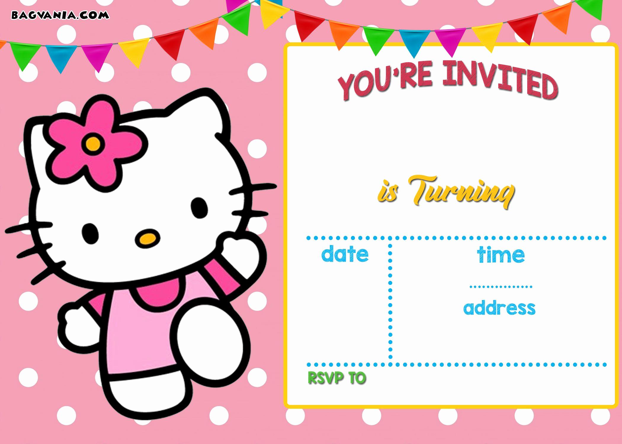 Hello Kitty Invitation Templates Beautiful Free Hello Kitty Invitation