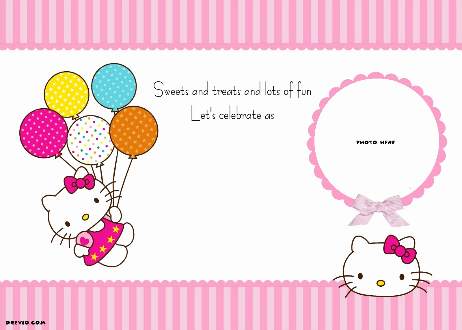 Hello Kitty Invitation Templates Beautiful Free Personalized Hello Kitty Birthday Invitations