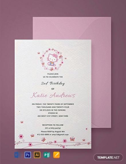 Hello Kitty Invitation Templates Best Of Free Hello Kitty Party Invitation Template Download 907
