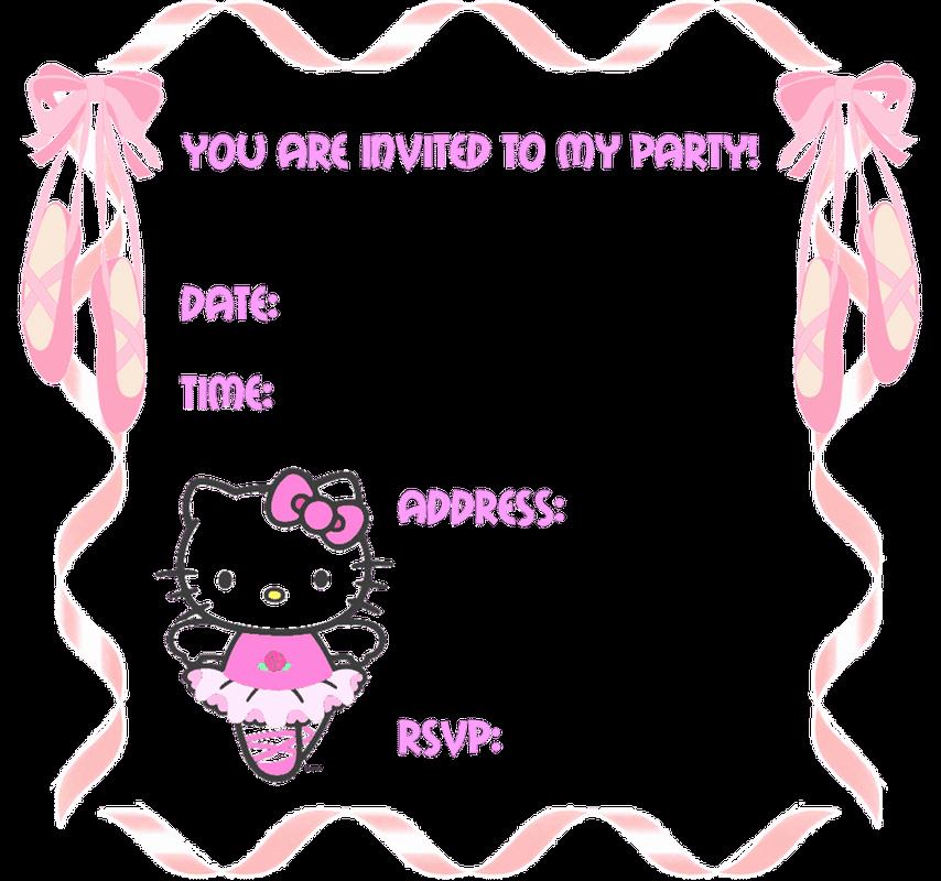 Hello Kitty Invitation Templates Elegant Hello Kitty Blank Party Invitations