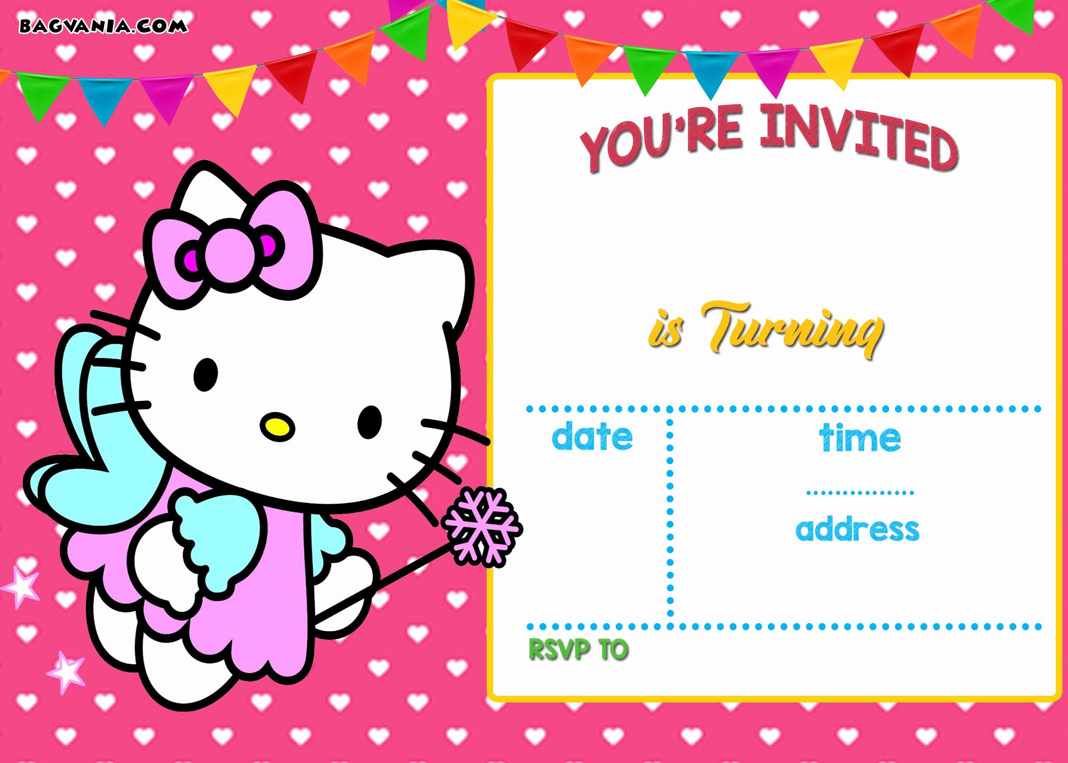 Hello Kitty Invitation Templates Elegant Personalized Hello Kitty Birthday Invitations Updated