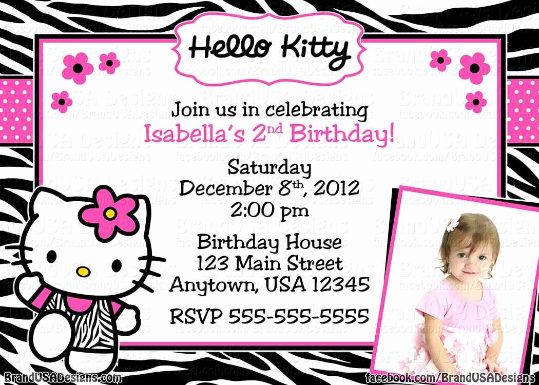 Hello Kitty Invitation Templates Fresh Hello Kitty Invitation Templates