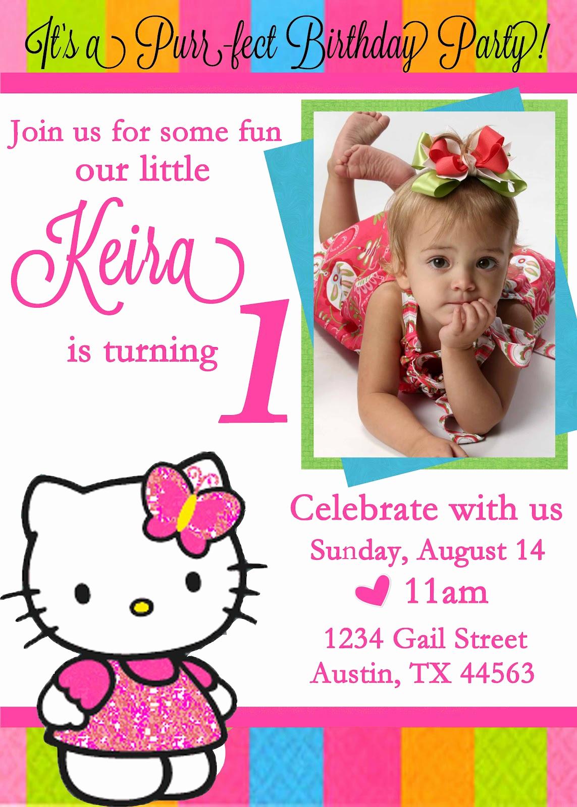 Hello Kitty Invitation Templates Inspirational Free Personalized Hello Kitty Birthday Invitations