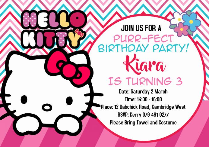 Hello Kitty Invitation Templates Inspirational Hello Kitty Invitations Template