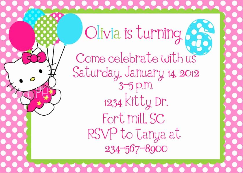 Hello Kitty Invitation Templates Lovely Free Hello Kitty Invitation Template