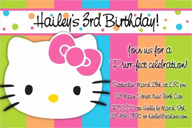Hello Kitty Invitation Templates Lovely Party Invitation Templates