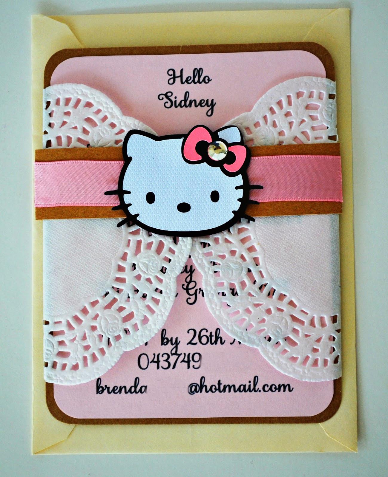 Hello Kitty Invitation Templates Luxury Birthday and Baby Shower Invitations Hello Kitty Doily