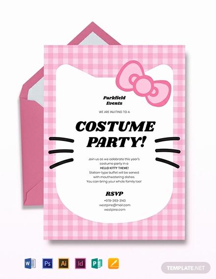 Hello Kitty Invitation Templates Luxury Free Hello Kitty Party Invitation Template Download 651