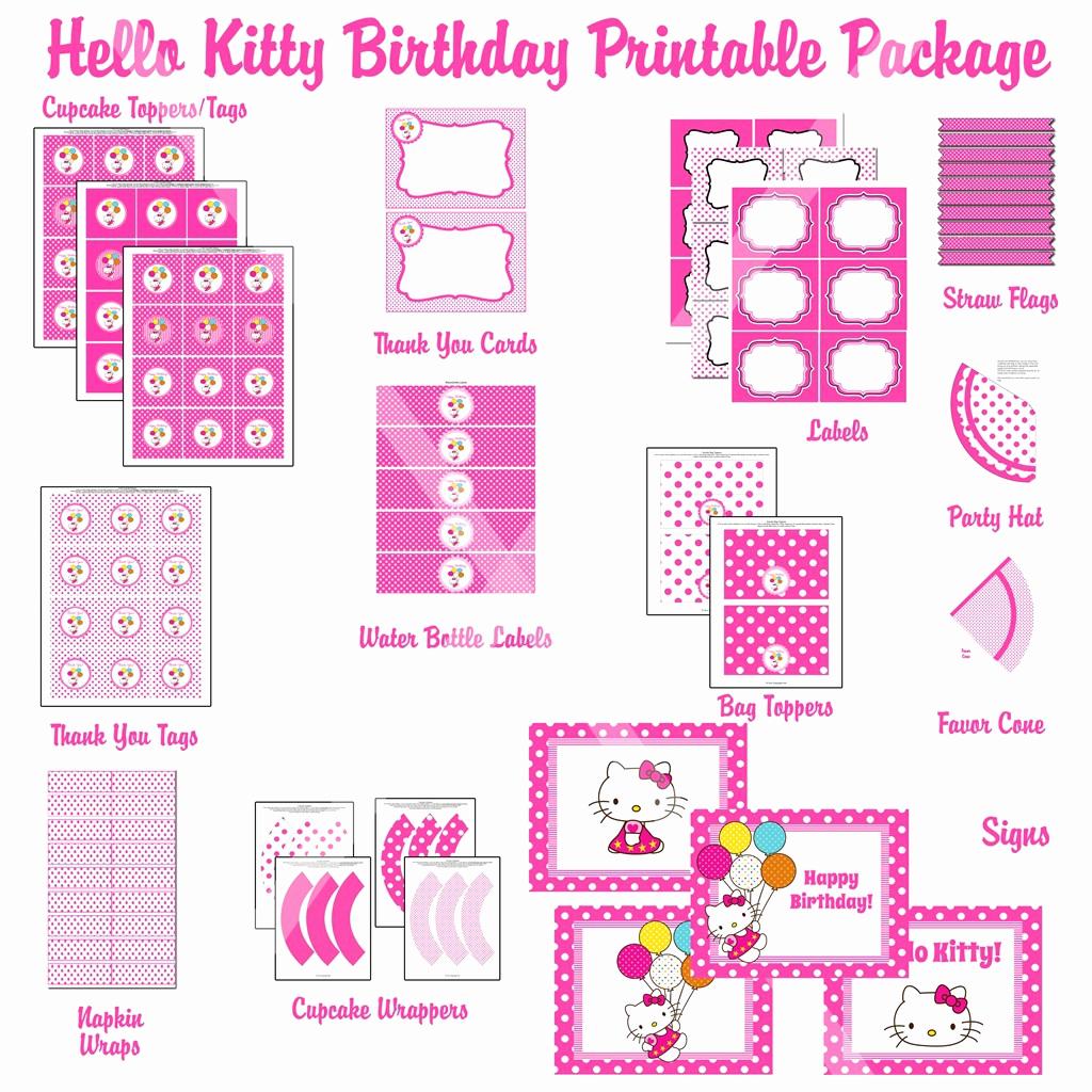 Hello Kitty Invitation Templates New Free Hello Kitty Invitations Printable