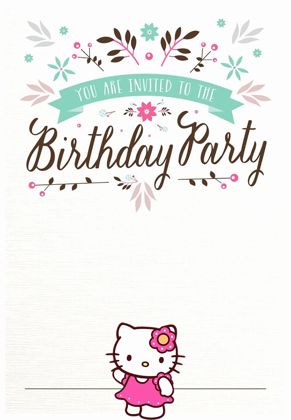 Hello Kitty Invitation Templates New Hello Kitty Free Printable Invitation Templates
