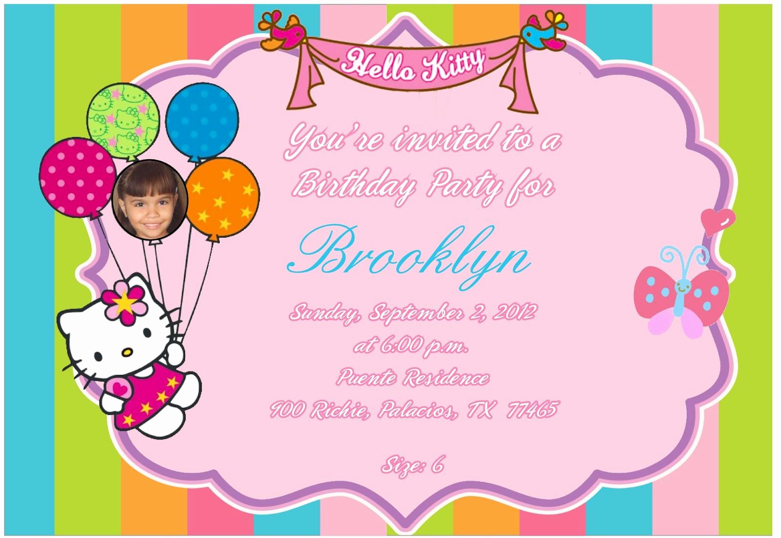 Hello Kitty Invitation Templates Unique 3 Monkeys and More Hello Kitty Invitation