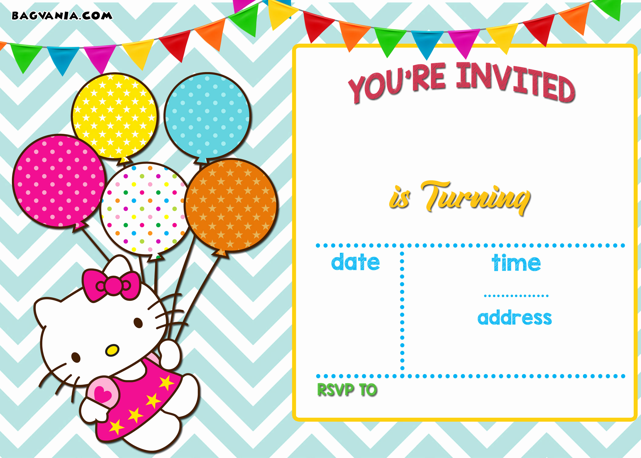 Hello Kitty Printable Invitation Awesome Free Printable Hello Kitty Invitation Templates theme