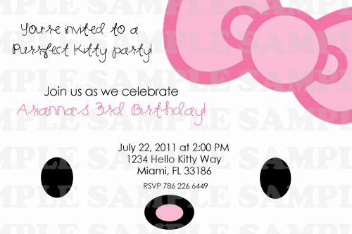 Hello Kitty Printable Invitation Beautiful Hello Kitty Printable Birthday Invitations Template