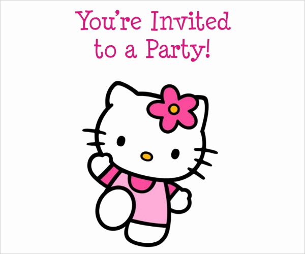Hello Kitty Printable Invitation Fresh 52 Birthday Invitation Templates Psd Ai