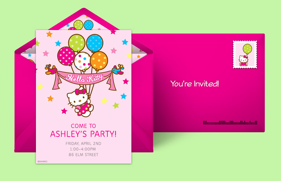 Hello Kitty Printable Invitation Fresh Free Hello Kitty Invitations Hello Kitty Line