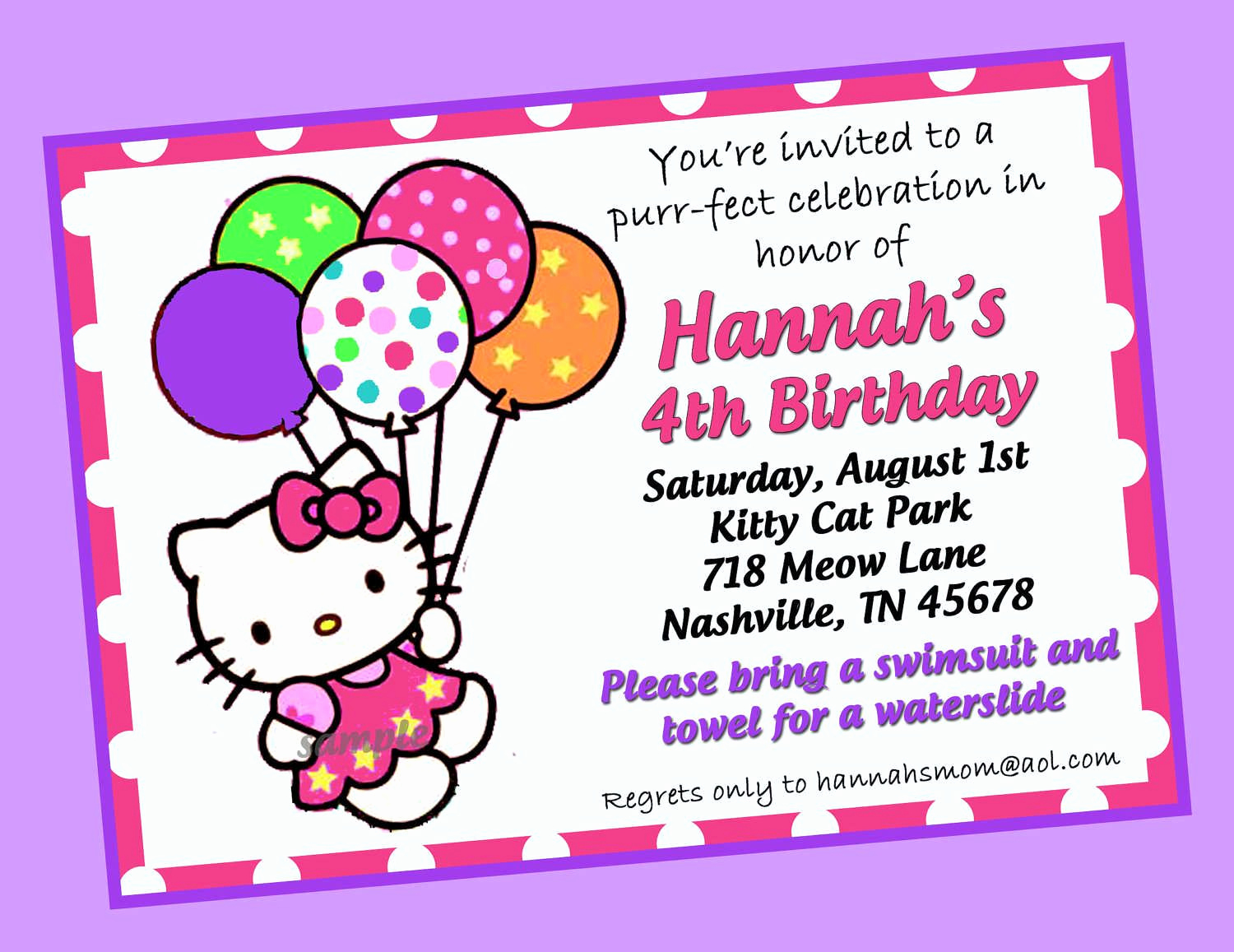 Hello Kitty Printable Invitation Fresh Hello Kitty Birthday Invitations Templates Free
