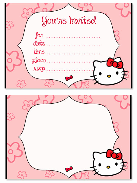 Hello Kitty Printable Invitation Fresh Hello Kitty Birthday Party Invitations for Kids
