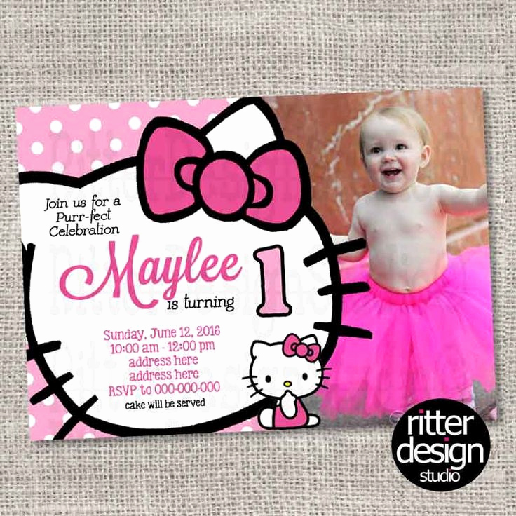 Hello Kitty Printable Invitation Lovely Birthday Invitation Hello Kitty with Picture Printable