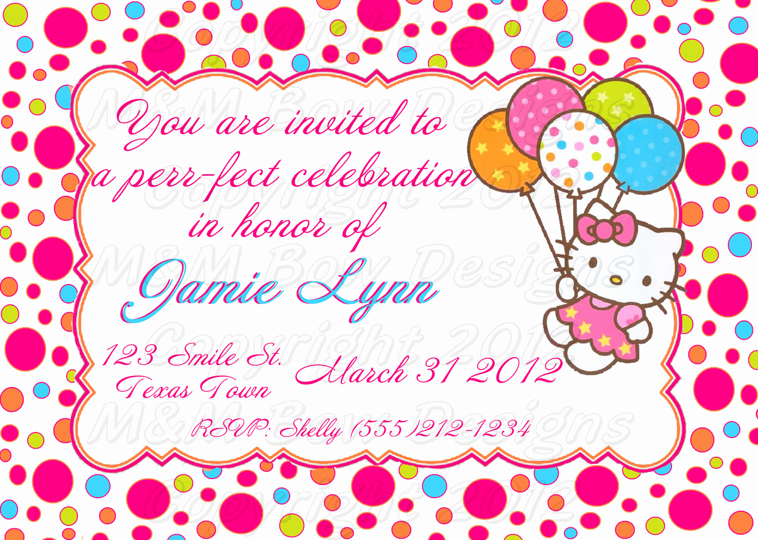 Hello Kitty Printable Invitation New Diy Printable Hello Kitty Birthday Invitation & Thank You Set