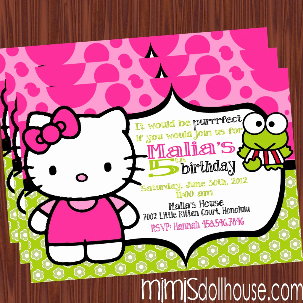 Hello Kitty Printable Invitation Unique Free Printable Hello Kitty Birthday Party Invitations