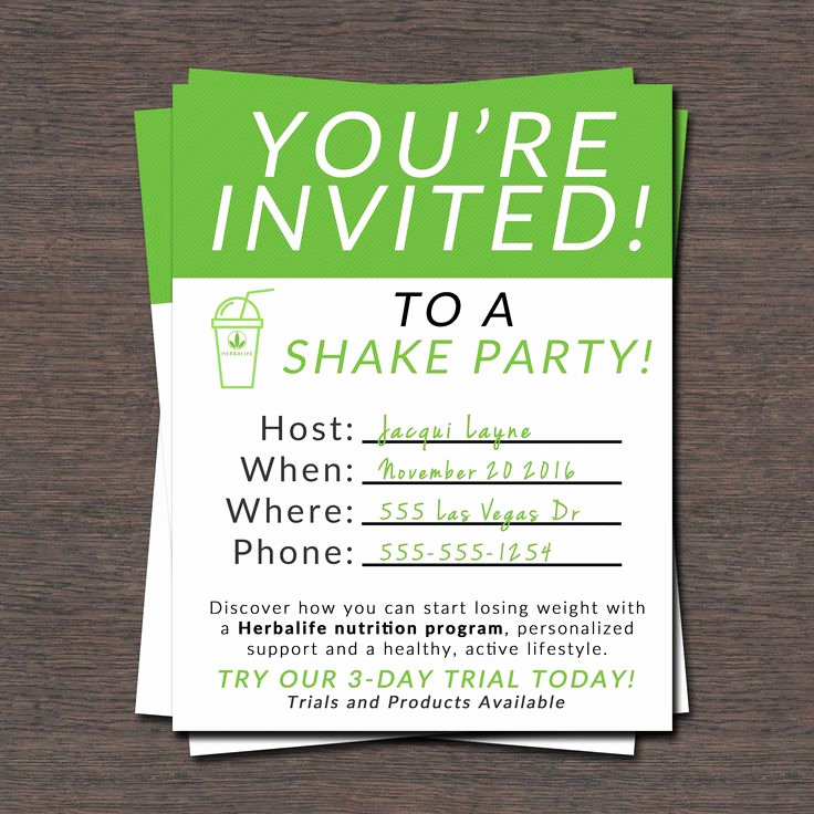 Herbalife Shake Party Invitation Beautiful Herbalife Shake Party Invites – Free Printable – Las Vegas