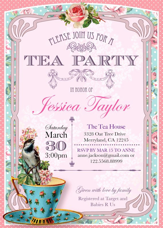 Hi Tea Invitation Templates Awesome 296 Best Party High Tea Images On Pinterest
