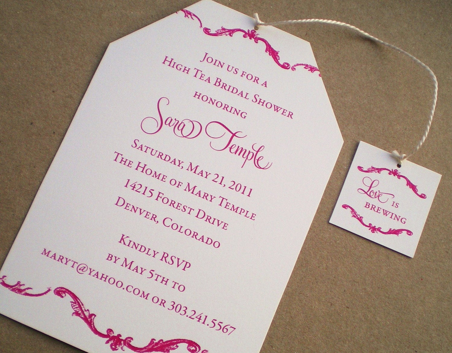 Hi Tea Invitation Templates Awesome High Tea Bridal Shower Invitations by Ideachic On Etsy