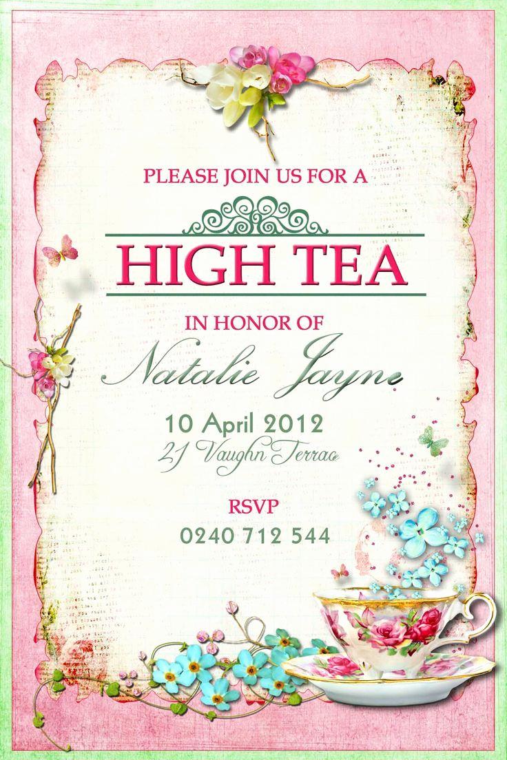 Hi Tea Invitation Templates Best Of Tips for Choosing Tea Party Birthday Invitations Modern