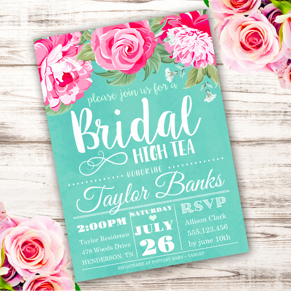 Hi Tea Invitation Templates Fresh Bridal High Tea Invitation Template Edit with Adobe