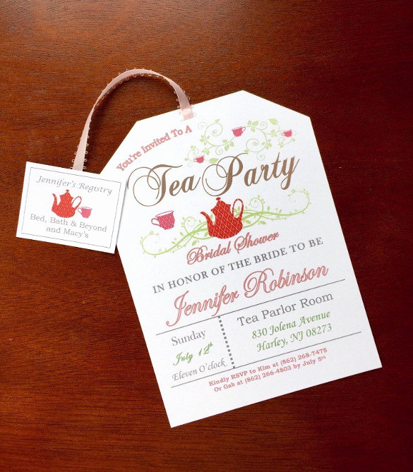 Hi Tea Invitation Templates Lovely 41 Tea Party Invitation Templates Psd Ai