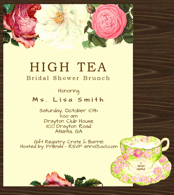Hi Tea Invitation Templates Lovely Blank Template Invitation Rehearsal Dinner Invites High Tea