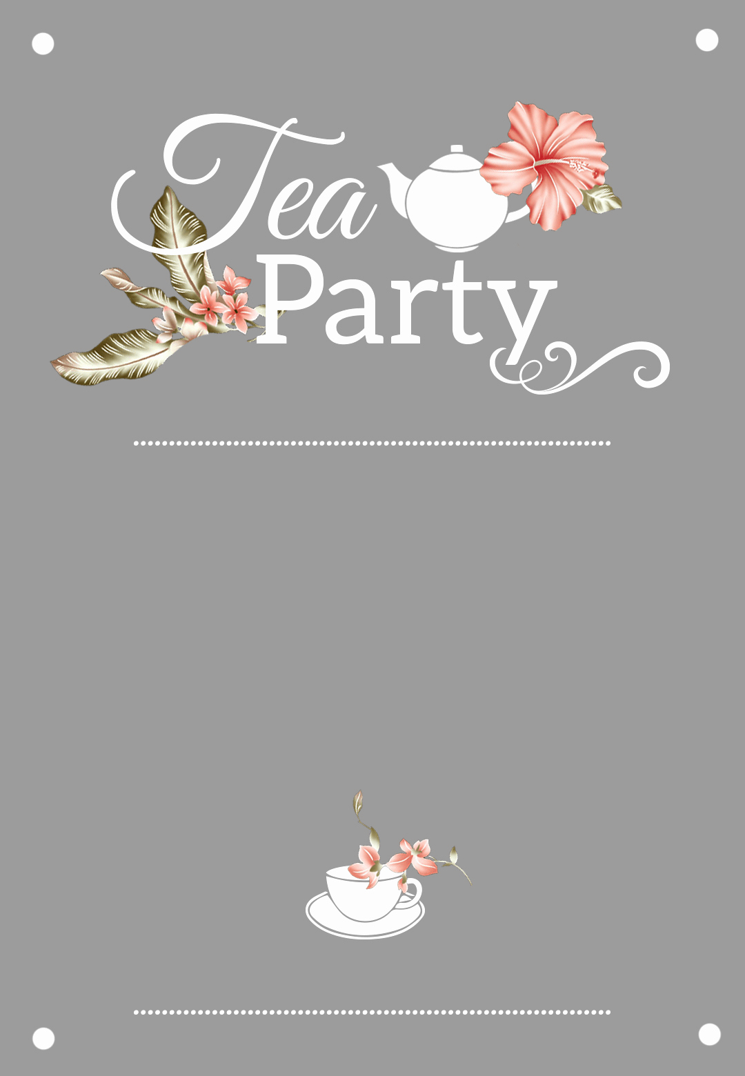 Hi Tea Invitation Templates Luxury Bridal Shower Tea Party Free Printable Bridal Shower