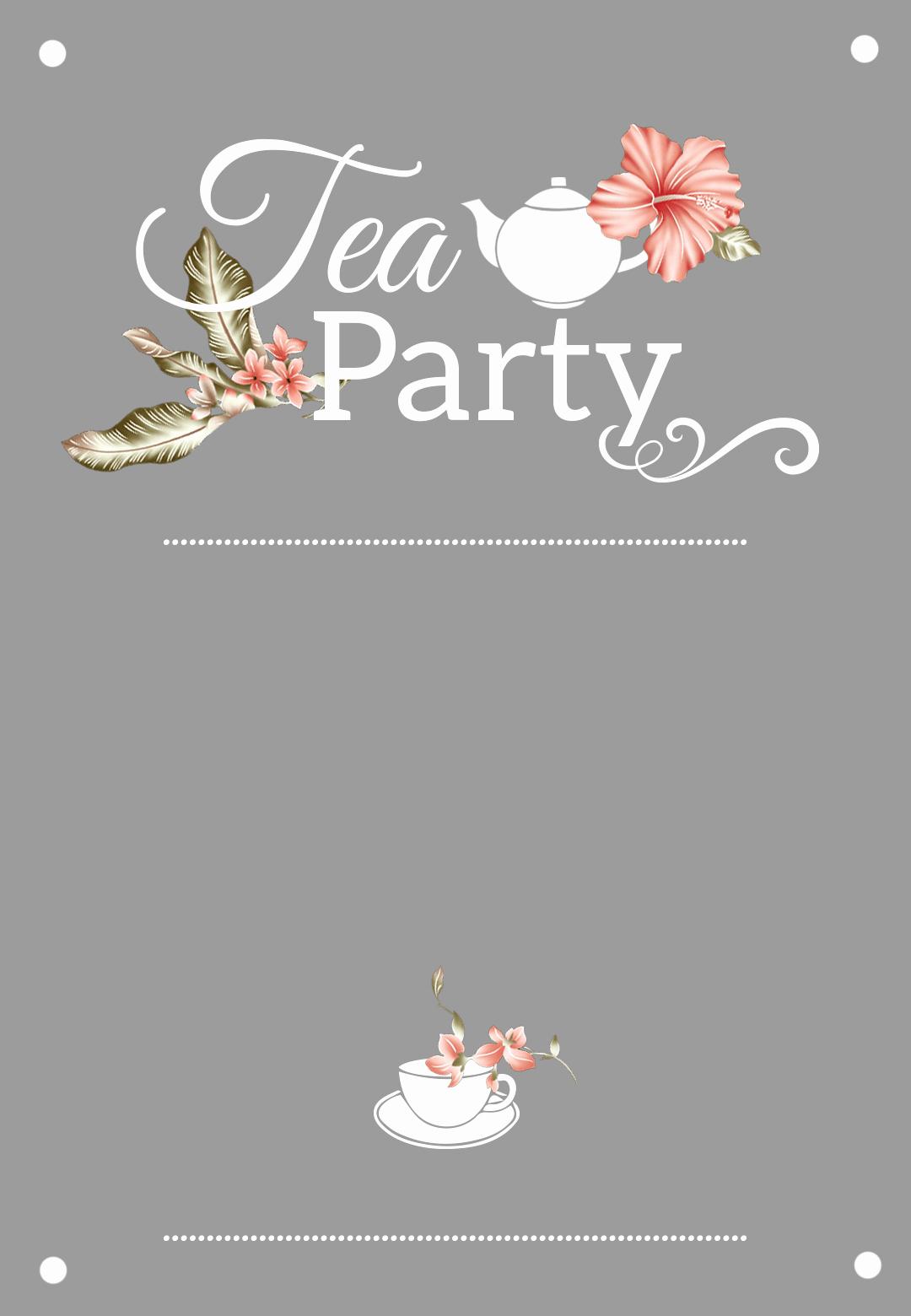 Hi Tea Invitation Templates Luxury Bridal Shower Tea Party Free Printable Bridal Shower