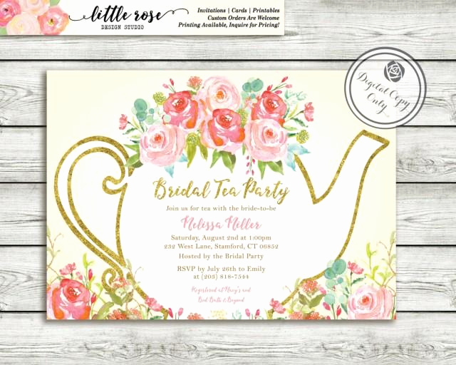 Hi Tea Invitation Templates New Garden Tea Party Bridal Shower Invitation High Tea