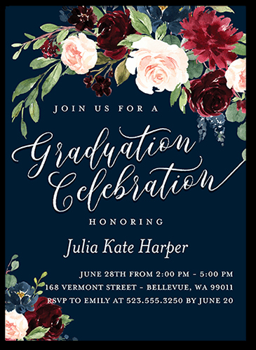 High School Graduation Ceremony Invitation Beautiful College Graduation Party Ideas and themes for 2019