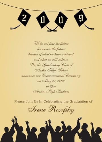 High School Graduation Ceremony Invitation Inspirational Graduation Ceremony Invitation Wording Cobypic