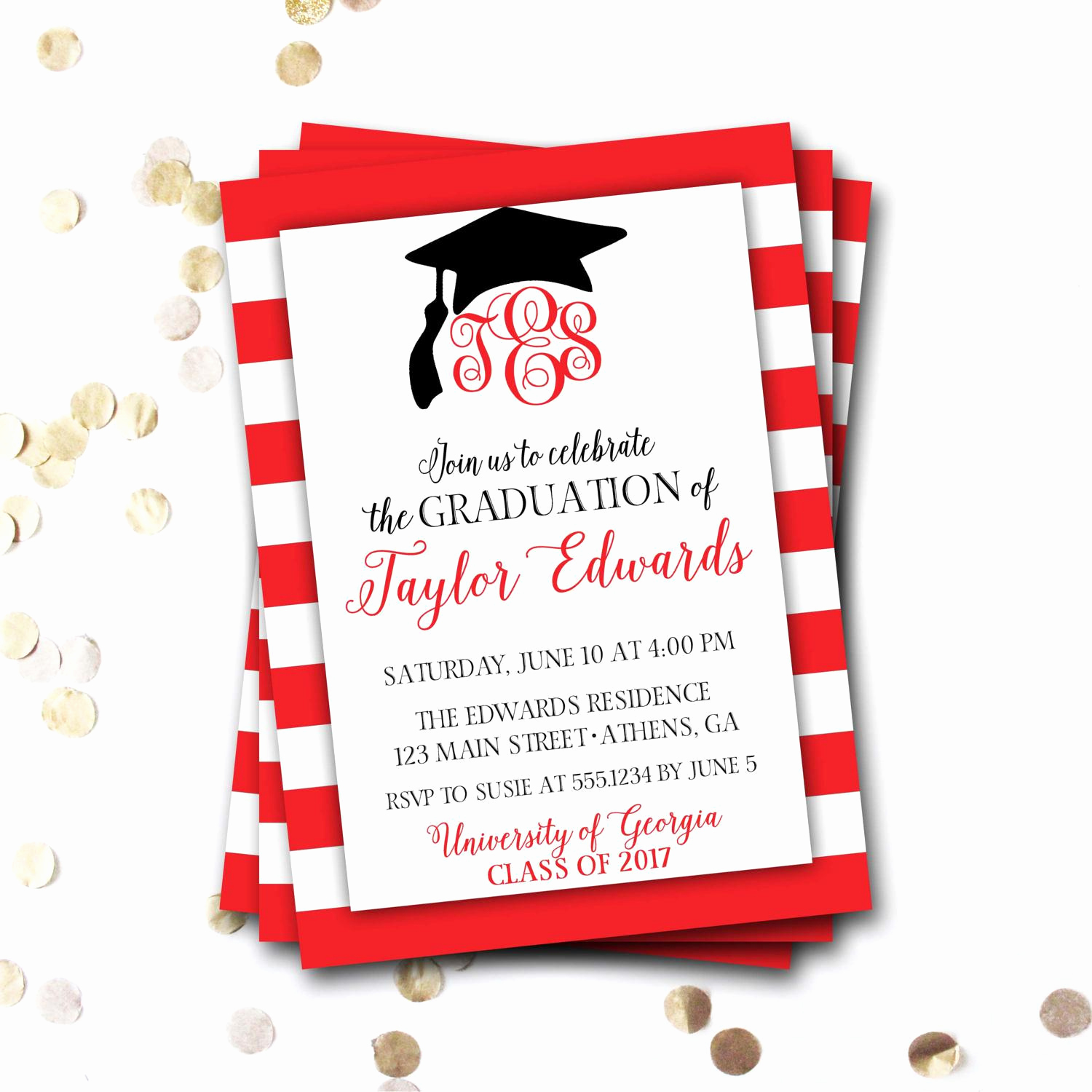 High School Graduation Ceremony Invitation Luxury Graduation Invitation Graduation Invitation Cards