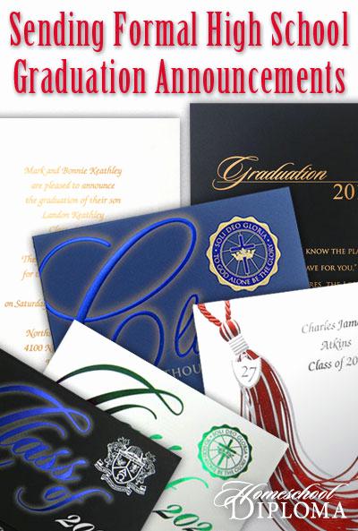 High School Graduation Ceremony Invitation New Blog Homeschool Graduation Sending formal High