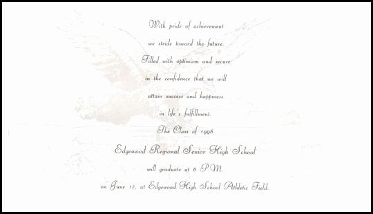 High School Graduation Ceremony Invitation Unique Ceremony Invitation