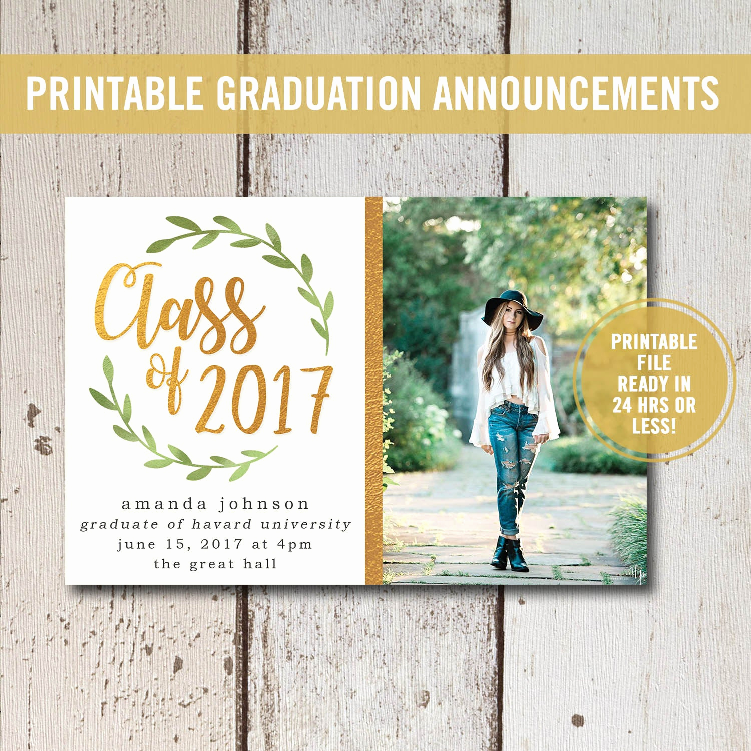 college graduation invitation printable