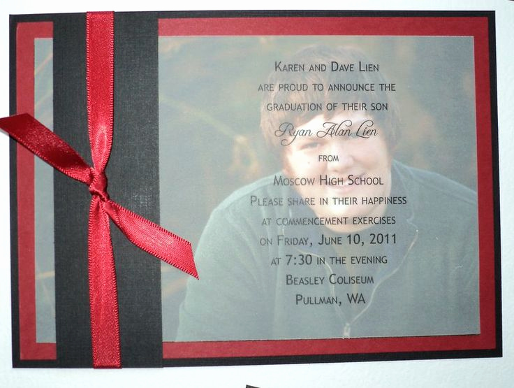High School Graduation Invitation Cards Awesome Diy High School Graduation Announcements