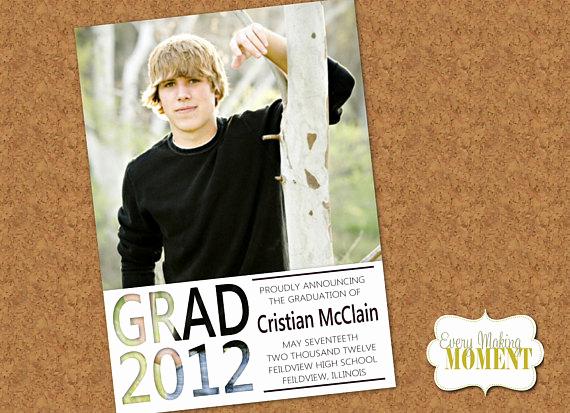 High School Graduation Invitation Cards Awesome Items Similar to Graduation Announcement High School