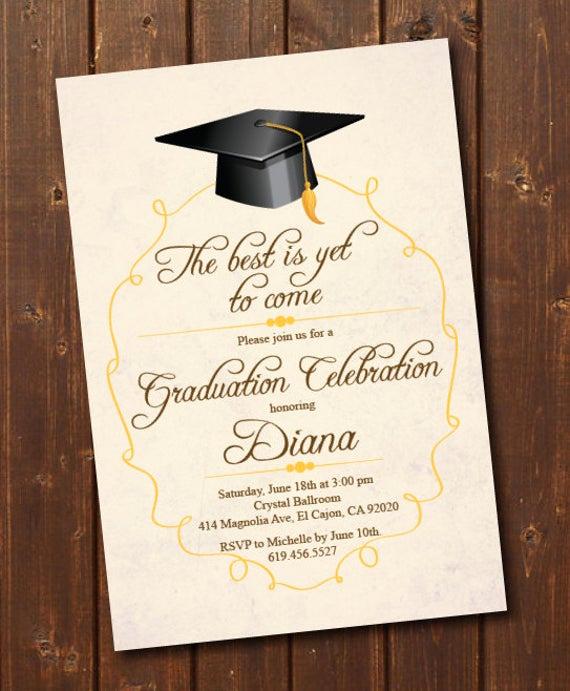 High School Graduation Invitation Cards Elegant Class Of 2018 High School College Graduation Invitation Card