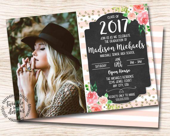 High School Graduation Invitation Cards Fresh Best 25 Graduation Invitations Ideas On Pinterest