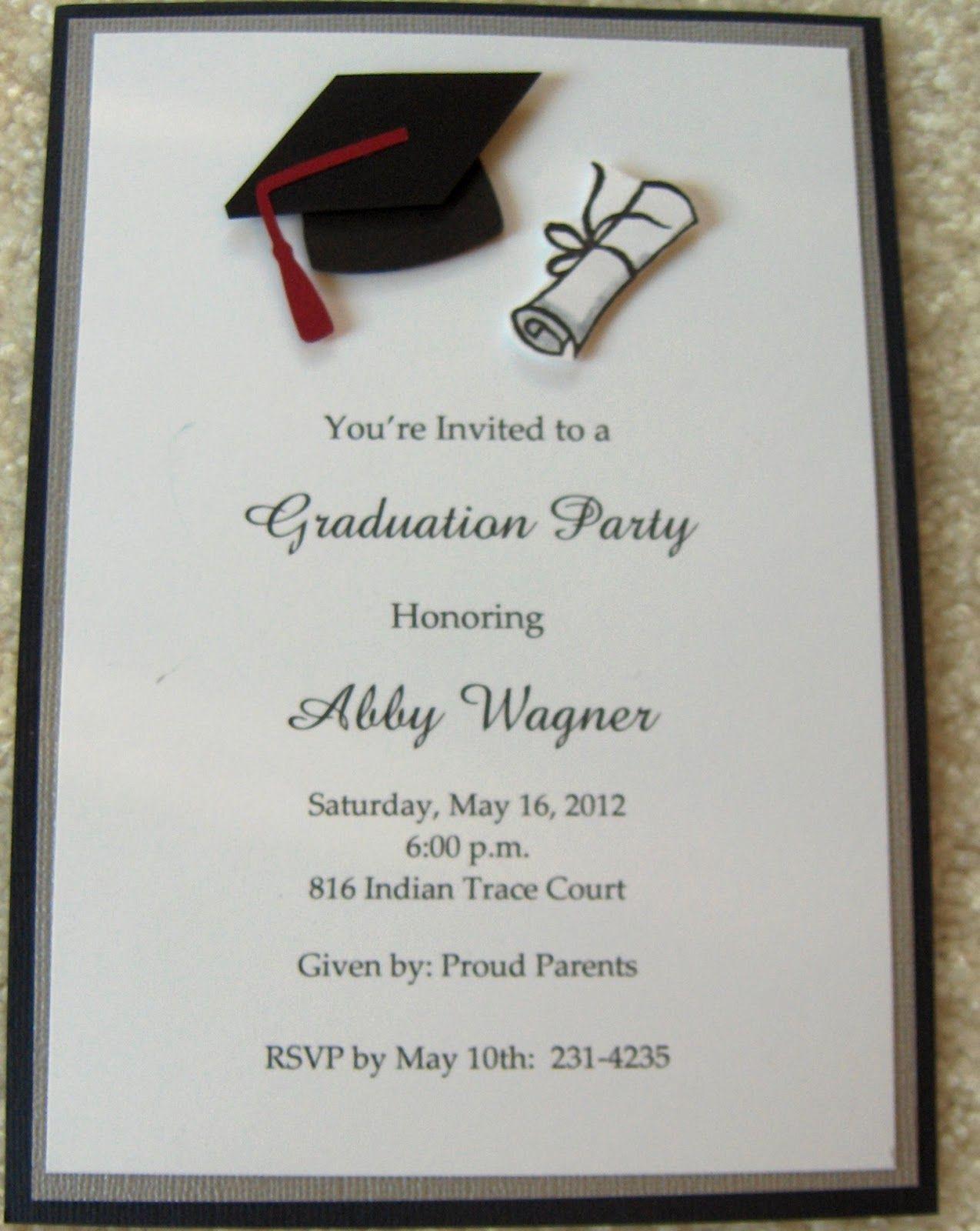 High School Graduation Invitation Cards Inspirational Graduation Invitations Google Search