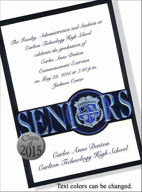 High School Graduation Invitation Cards Luxury High School Graduation Invitations Wording