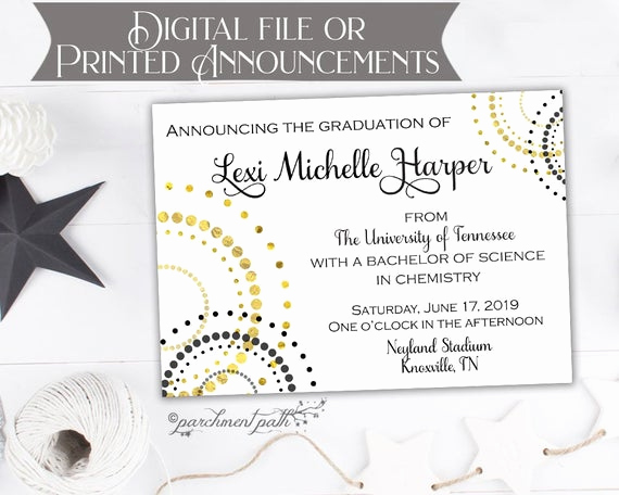 High School Graduation Invitation Cards New Graduation Announcement College Graduation Invitation